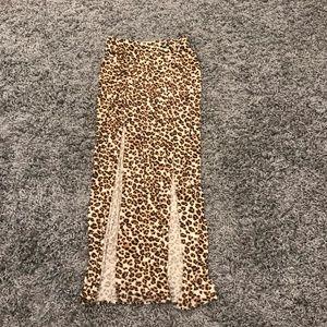 Guess leopard print maxi skirt